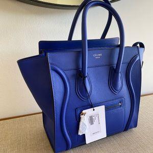 CELINE LUGGAGE TOTE - Micro - Royal Blue - BNWT